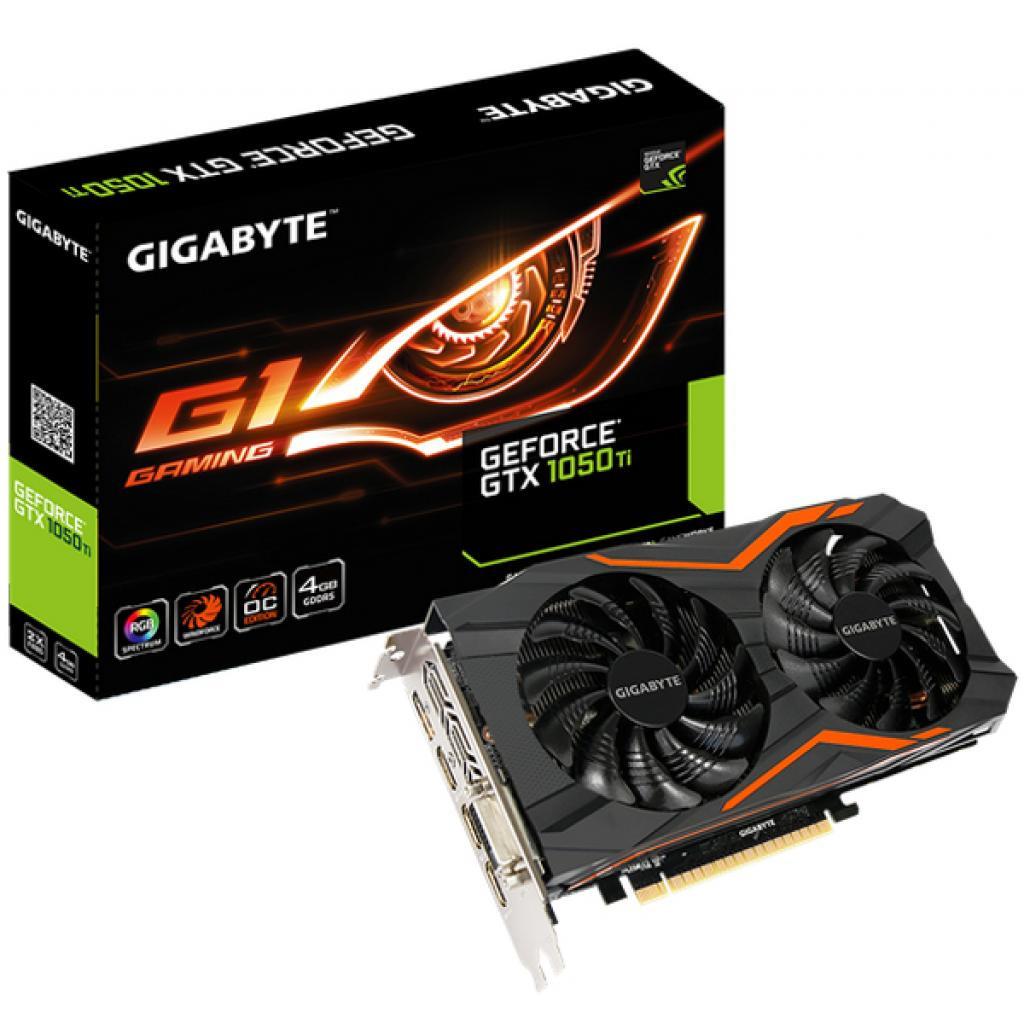 Видеокарта GIGABYTE GeForce GTX1050 Ti 4096Mb G1 GAMING (GV-N105TG1 GAMING-4GD)