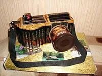 Оригинальный мужской подарок-фотоаппарат из конфет,шоколада,кофе