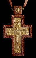 Крест наперсный наградной №7 (красное дерево, золочение)