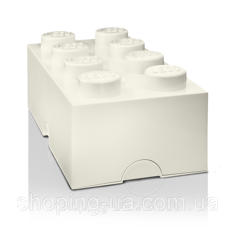 Восьми точечный белый контейнер для хранения Lego PlastTeam 40041735