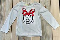 Кофта на девочку очень мягкая Микки Маус на 5-6 лет