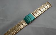 Стальной браслет к часам Stone - нержавейка, цвет золото, фото 1