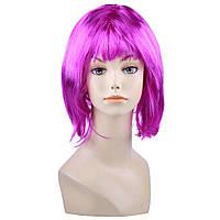 Фиолетовый парик-каре.