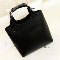 Большая женская сумка в стиле Зара (Zara Shoper) черная