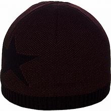 Мужская шапка на флисе цвет бордовый