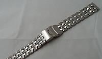 Невбиваний браслет до годинника - нержавіюча сталь, колір срібло, фото 1