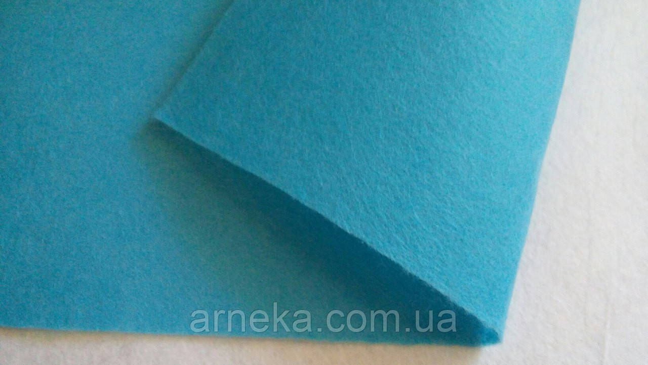 Фетр 20*25см, толщина 1 мм голубой