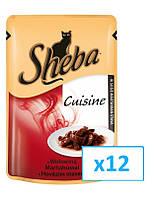 SHEBA Cusine говядина в соусе 85g x12