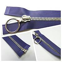 Молния метал. 5 мм  разьем. фиолетовый 24 см