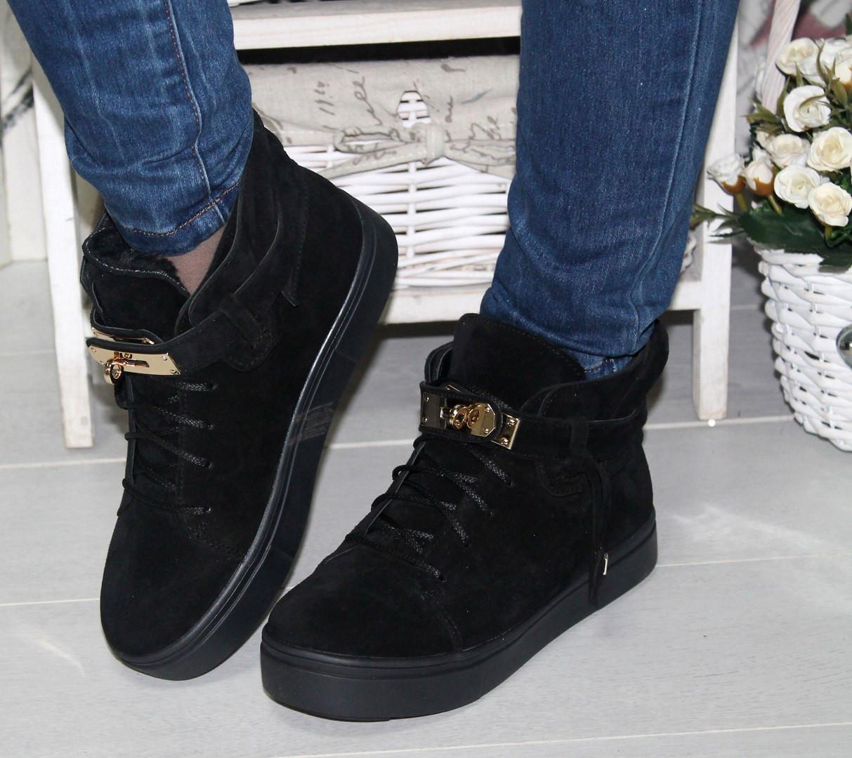 2b4cdf34bfba Ботинки зимние Hermes натуральная замша - Интернет-магазин Shopogolik (женская  обувь и одежда)