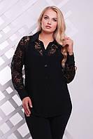 Рубашка нарядная с планкой цвет черный  РОЗА (размеры 56-62)