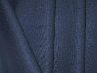 Льняная костюмная ткань (чернильного цвета)