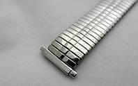 Особопрочный тянущийся браслет к часам - нержавейка, цвет серебро, фото 1