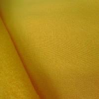 Трикотажное полотно трехнитка начес хб/пэ, желтый