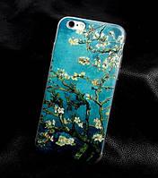 Яркие чехлы с изображением (силикон) для Iphone 5c Цветущие ветки миндаля Ван Гог