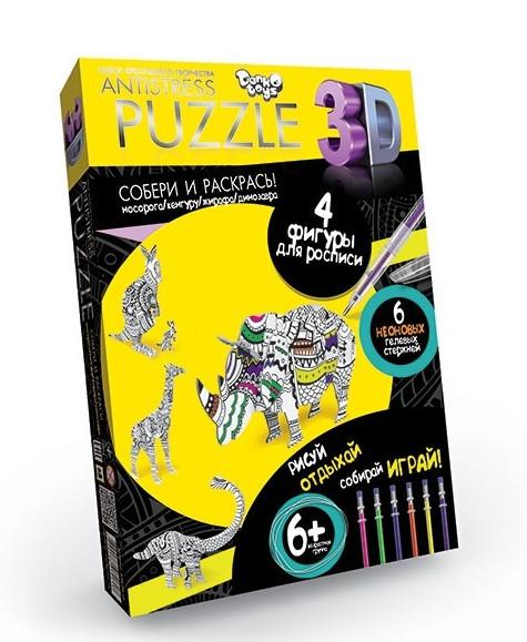 Пазлы Antistress Puzzle 3D Животные AP-01-12 Danko Toys