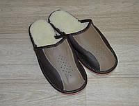 Тапочки кожаные на меху(мужские), фото 1