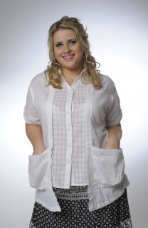 Блуза женская  хлопок, ботал, 48,50,52,54, короткий рукав, ( БЛ 034) .