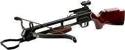 Арбалет Man Kung MK-200A2, Рекурсивный, винтовочного типа, деревянный приклад цвет коричневый