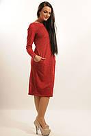 """Красное теплое платье """"Шери"""""""