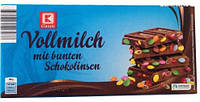 "Молочный шоколад  K Classic Vollmilch mit bunten Schokolinsen с ""MM`S"" 200 г"