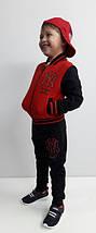 Детский спортивный костюм Бомбер красный, р.104-140, фото 3