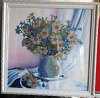 """Картина """"Букет ромашки и васильки"""" от студии LadyStyle.Biz"""