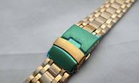 Особливо міцний браслет до годинника - нержавіюча сталь, колір золото, фото 1