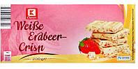 Белый шоколад  K Classiс Weibe Erdbeer Crisp с мелкими кусочками клубники, 200 г