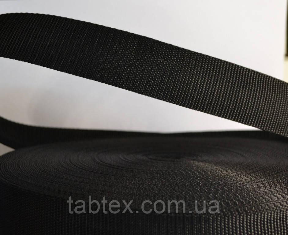 Тесьма №3.8см (50метр.) черн (кит.) 21,5 г/м