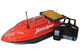 Прикормочный кораблик для завоза прикормки Дельфин-2LS с эхолотом FF718LiW