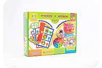 Развивающая настольная игра для детей «Учимся-играем»
