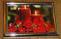 Картина из страз Новогодние свечи 2