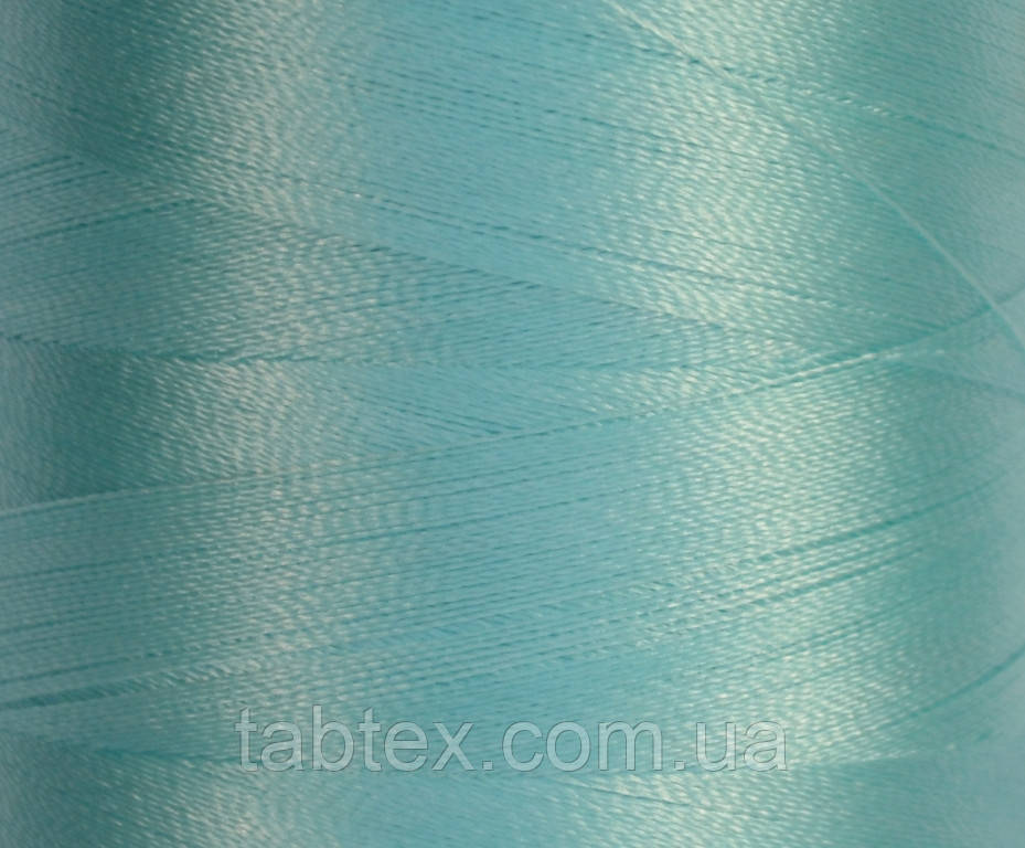 Нитка шовк для машинної вишивки embroidery 120den. №D-143 бірюза св. блакитна 3000 ярд