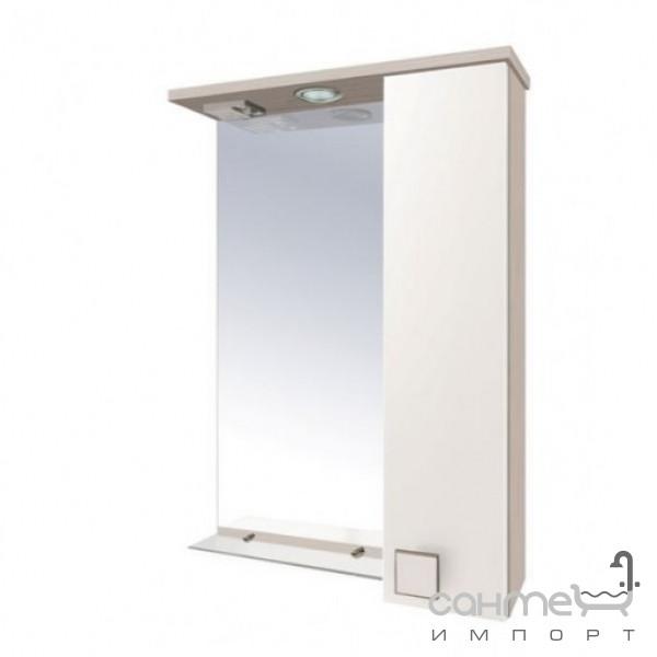 Мебель для ванных комнат и зеркала Мойдодыр Зеркало со шкафчиком справа Мойдодыр Домино СШ-50х80 бежевый