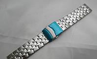 Стальной браслет к часам - нержавейка, цвет серебро, фото 1