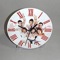 Стеклянные часы с фото
