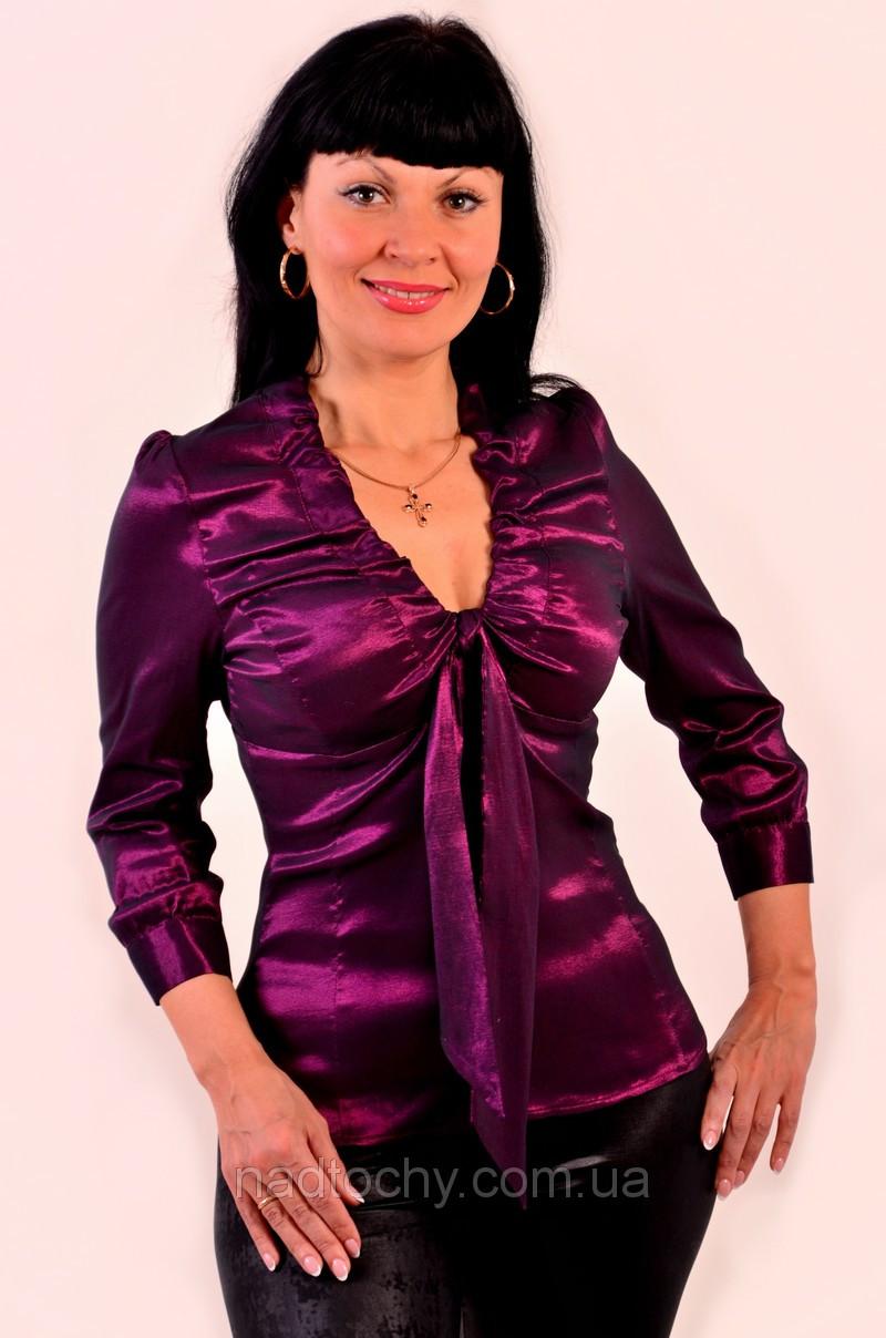 Блуза женская нарядная бордо (БЛ 054)