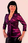 Блуза женская нарядная бордо (БЛ 054), фото 2