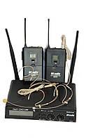 DV audio BGX-24 Dual радиосистема UHF двухканальная с двумя головными микрофонами
