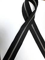 Молния метал. TECHNO  рулонная 3мм черный/э.никель
