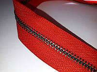 Молния метал. TECHNO рулонная 5мм красный/старый никель