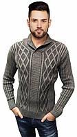Вязаный свитер с узором и воротником