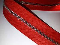 Молния метал. TECHNO рулонная 5мм красный/э.никель