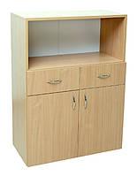 Шкаф низкий 2-дверный с 2 ящиками и нишей (29901)