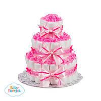 """Торт из памперсов """"Pink Paradise"""""""