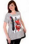 Блуза-туника ,женская, одежда для полной молодежи , большие размеры , блуза в горошек,(БЛ 1208) ., фото 2
