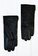 Женские кожаные перчатки Чизкейк черный