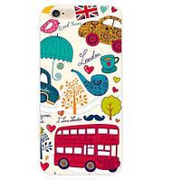 Оригинальный чехол накладка для Iphone 5c с рисунком Лондон