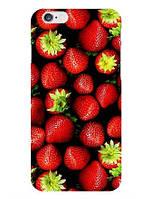 Оригинальный чехол накладка для Iphone 5c с рисунком Клубничка